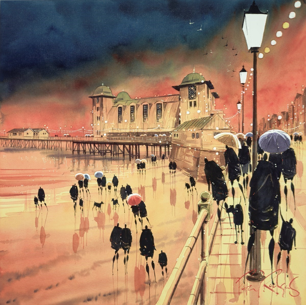 Illuminations, Cardiff by Peter J Rodgers -  sized 20x20 inches. Available from Whitewall Galleries